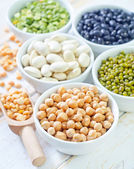 Different kind of beans — Stock Photo