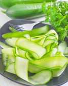 Salad with cucumber — Stock Photo