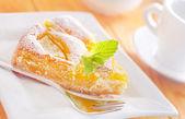 Ciasto z brzoskwinią — Zdjęcie stockowe