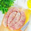 Raw sausages — Stock Photo #21153477