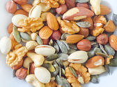 Different types of nuts — Foto de Stock