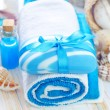 Soap and towels — Stockfoto #21231017