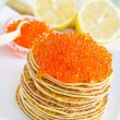 Pancakes with caviar — Stock Photo #22143209