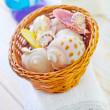 Shells in basket — Stock Photo #22379145