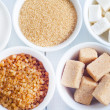 Photo: Different types of sugar