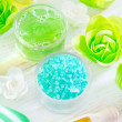 Stockfoto: Sesalt and soap