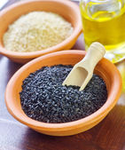 Sesame seeds in a bowl — Stock Photo