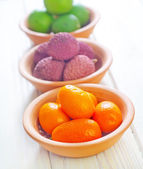 Fruits in a bowl — Stock Photo