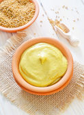 Mustard in a bowl — Stock Photo