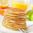 Stock Photo: Pancakes with fruit
