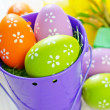 Stock Photo: Easter eggs in bucket