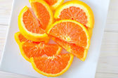 Sliced orange — Stock Photo