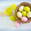 Royalty-Free Stock Photo: Color eggs
