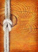 Rope on wooden background — Stock Photo