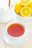 Tea with lemons — Stock Photo