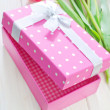 Box for present — Stock Photo