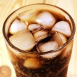 Coca in glass — Stock Photo