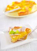 Pie with peach — Stock Photo