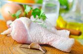Chicken leg — Stock Photo