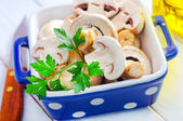 Raw mushroom — Stock Photo