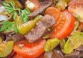 Carne al horno con verduras — Foto de Stock