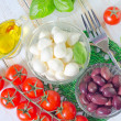 Ingredients for caprese — Foto Stock