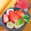 Stock Photo: Salad from strawberry and banana