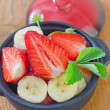 Salad from strawberry and banana — Stock Photo #25627691