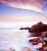 Moře a západ slunce — Stock fotografie