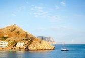Sea and mountain in Crimea — Stock Photo