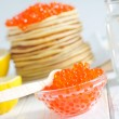 Pancakes with caviar — Stock Photo #26400817