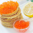 Pancakes with caviar — Stock Photo #26400821