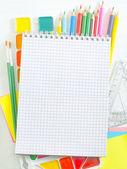 Skolmaterial — Stockfoto
