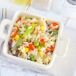 Rice with vegetable - Stock Photo