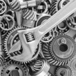 Metal gears and bearings — Stock Photo