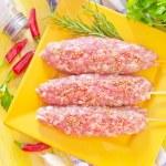 Raw kebab — Stock Photo