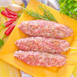 Raw kebab — Stock Photo