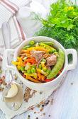 Verdure al forno con carne — Foto Stock