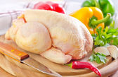 Chicken and vegetables — Stock Photo