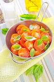 Salad from tomato — Stock Photo