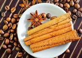 Café e aroma de especiarias — Fotografia Stock