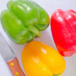 Stock Photo: Color peppers
