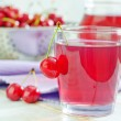 Stock Photo: Cherry juice