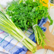 Onion and other greens — Stock Photo