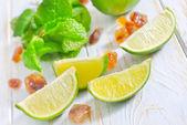 Nane ve şeker kireç — Stok fotoğraf
