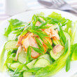 Salad with salmon and cucumber — Stock Photo #30329093
