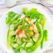 Salad with salmon and cucumber — Stock Photo #30329095