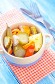 Marinated vegetables — Stock Photo