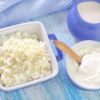 Стоковое фото: Cottage,milk and sour cream