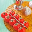 Stock Photo: Tomato and garlic